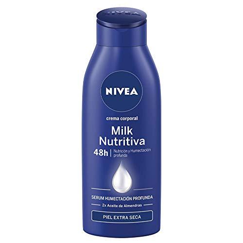 NIVEA Body Milk Nutritivo, leche corporal para una hidratación profunda durante 48 h, crema hidratante corporal con aceite de almendras para piel muy seca - 1 x 400 ml