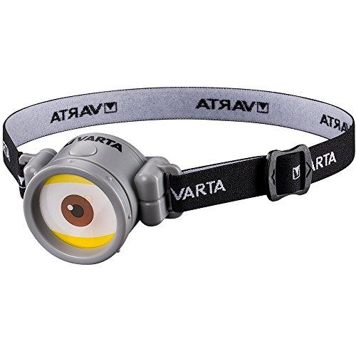Varta Minions - Linterna frontal con 1 pila AAA incluida, blanco, 13 lúmenes