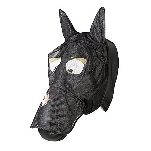 PFIFF 101013 Fliegenmaske Gesichtsmaske mit Motiv für Pferde, Fliegenschutz