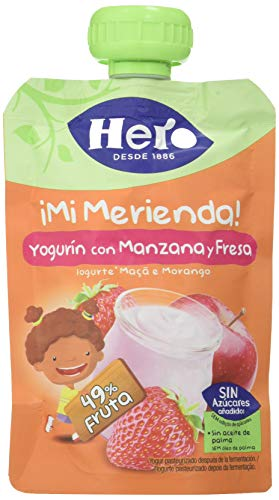 Hero Nanos Bolsita Merienda Yogur Manzana con Fresa 100 gr