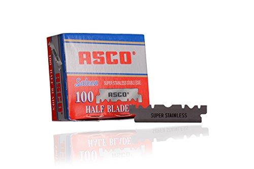 Asco Rasierklingen 100 Stück (halbe) (1)