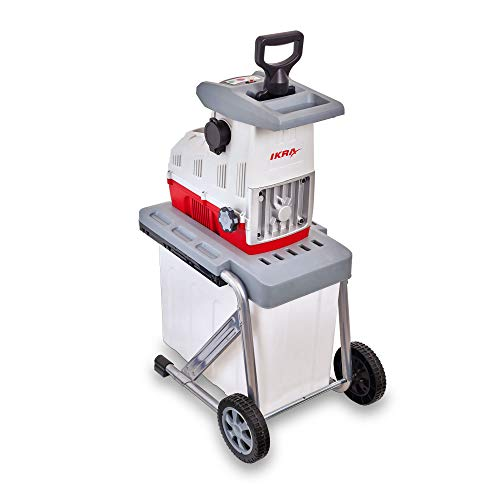 IKRA Elektro Gartenhäcksler Walzenhäcksler ILH 3000 A leise robust wartungsarm starke 3.000W Aststärke bis 44mm