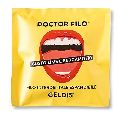 Geldis® Filo Interdentale Doctor Filo® Cerato aromatizzato Lime e Bergamotto, Senza Fluoro, Delicato su Gengive Sensibili, 100% Vegetale, 30 mt