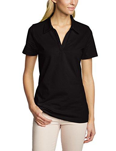 Trigema Damen 521612 Poloshirt, Schwarz (Schwarz), L
