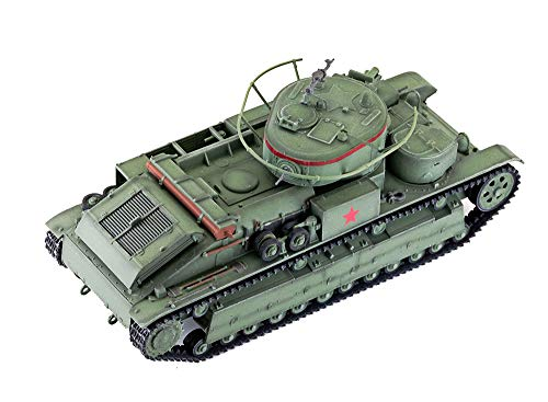 X-Toy Militär 1/72 Kunststoff Tank-Modell, WWII Sowjetische T28 Heavy Tank Fertigmodell, Collectibles Und Geschenk (4.1Inch × 1.6Inch)