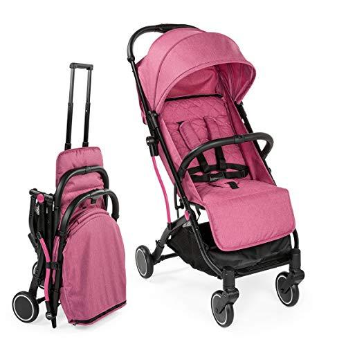Chicco TrolleyMe - Silla de paseo compacta tipo trolley, con asa para transporte, color rosa (Lollipop)