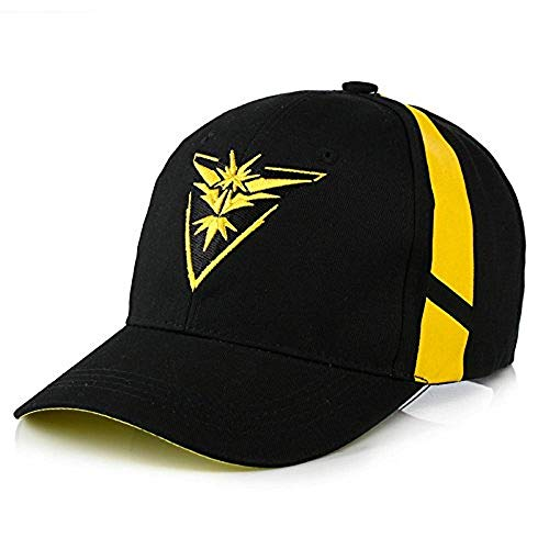 O-Flow Embroidered Pokemon Go Team Mystic, Valor, Instinct Snapback Baseball hat Cap Yellow
