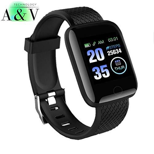 España Smartwatch, Reloj Inteligente con Pulsómetro Mujer Hombre Niños, Monitor de Sueño, Reloj de Fitness para iOS y Android Xiaomi Huawei Samsung