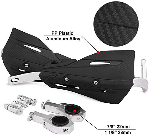 JFGRACING - Protectores de manos de aluminio para motos de