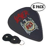 メタル バンド スレイヤー ギターピック 6枚/セット ウクレレ エレキギター 3種厚さ プリントデザイン ファッション スペシャル バリ無し 尖らず