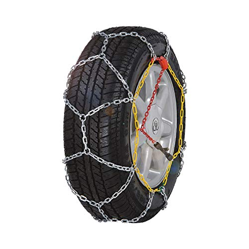 BaiYouDa Snow Chain Alloy Snow Chain Wear Resistant Tire Chain for Cars, SUVs, Minivans-Set of 2(KN110)
