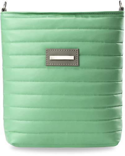 Gesteppte Damen – Tasche Messengertasche Pastell – Farben (Mint)