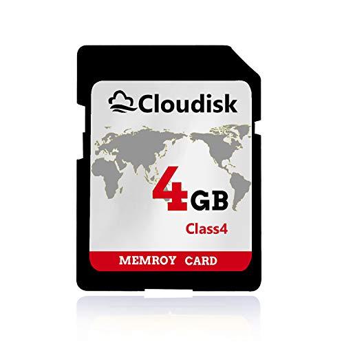 Cloudisk 4GB SD Carten UHS Flash Speicherkarten Class4 (4 GB SD Memory Card)