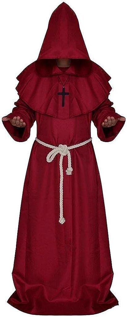 Mens Retro Steampunk Coat Vintage Gothic Jacket Wind Cloak Coat Bandage Fashion Cap Hooded Overcoat Outwear Jackets