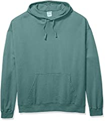 7.2-Oz. Cotton blend fleece is super soft and comfortable Vintage washed and garment dyed for a retro look and feel Twill draw cord and jersey lined hood Available in a variety of colors Cotton sourced from American farms
