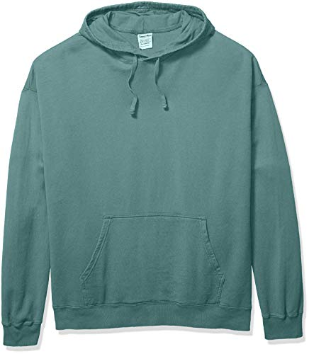 Hanes Men's Comfortwash Garment Dyed Hoodie Sweatshirt, Cypress Green, Medium