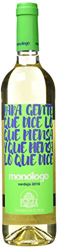 Monologo Vino Verdejo Blanco Rueda - 3 Botellas de 750 ml - Total: 2250 ml