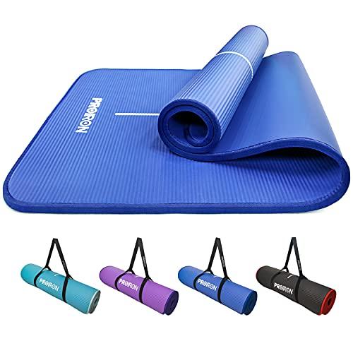 PROIRON Pilates matta kantskydd halkskydd yogamatta träning extra tjock skummatta fitness...