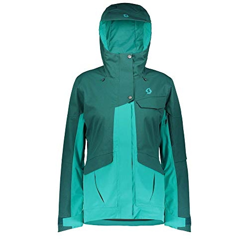 Scott Damen Skijacke W's Ultimate Dryo 20 Dragonfly Green Oxford/Sky Blue L