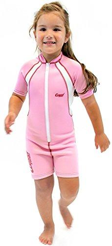 Cressi Kid Shorty Wetsuit 1.5 mm - Shorty Neoprenanzug für Kinder Ultra Stretch Neopren, Rosa/Weiß, S (2 Jahre)