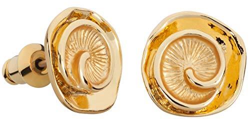 Perlkönig | Damen Frauen | Ohrringe Set | Ear Cuffs | Gold Farben | Muschel | Stecker | Nickelabgabefrei