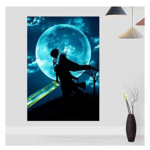 AZTeam Allen Walke The Moon Manga Póster Impresión Decoración Arte De La Pared Decoración Imágenes Impresiones En Lienzo Arte De La Pared Decoración Regalo-50X75Cm Sin Marco
