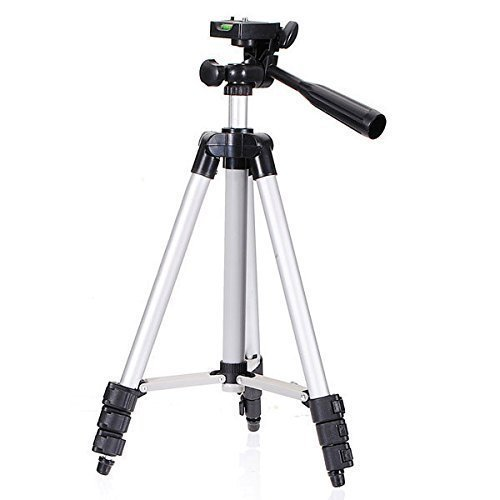 Lista 105cm Long Camera Tripod for Mobiles and Action Cameras with 3-Way Pan and Tilt