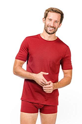 super natural M Base Tee 140 t-Shirt Thermique, Homme XXXL Rouge
