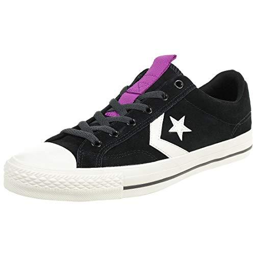 Converse Unisex-Erwachsene Star Player Sneaker, Schwarz (Black/Egret/Icon Violet 001), 42 EU