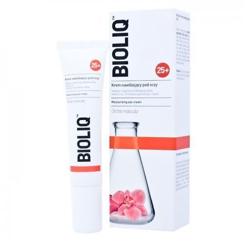 BIOLIQ 25+ Feuchtigkeitsspendende Augencreme, 15 ml, spendet Feuchtigkeit und regeneriert empfindliche Haut um die Augen, reduziert Augenringe und Schwellungen