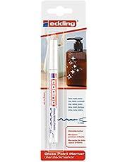 edding 751/1-049 - Blíster con 1 rotulador permanente tinta opaca, color blanco