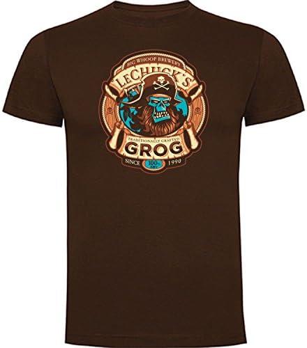 Camiseta de Hombre Monkey Island Retro Gamer Friki Juego Consola Aventura