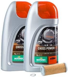 Oil Change Kit With KTM Motorex Cross Power 4T 10W-50 for KTM 500 EXC 2012-2016