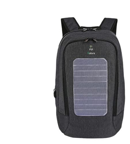 PSF NATURA Sac à dos solaire 24,2 L, recharge smartphones, objets connectés, ordinateurs, sac à dos avec un panneau solaire