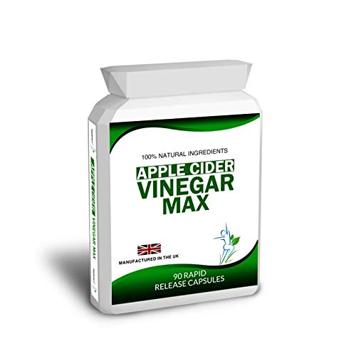 90 Apple Cider Vinegar Max Capsules Pills Weight Loss Diet Detox Slimming Free Meal Plan and Dieting Tips 3 Months Supply