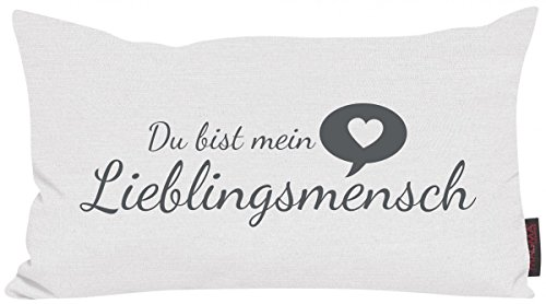 Magma Kissen Lieblingsmensch weiss 30x50cm Made in Germany