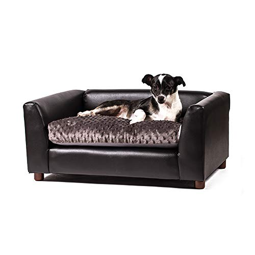 Keet Fluffly Deluxe Pet Bed Sofa Charcoal Medium