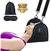 Neck Head Hammock,Neck Pain Relief and Stretching Portable Head Hammock Relieves Shoulder Back Pain Soft Fleece Cervical Traction and Adjustable Relaxation Sling