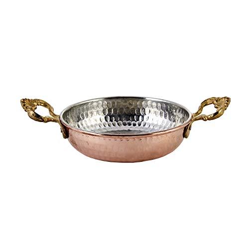 Karaca Antik Turkische Kupferpfanne 12 Cm, Nonstick, Antike Kupferpfanne zum Braten oder zur Dekoration, Eierpfanne