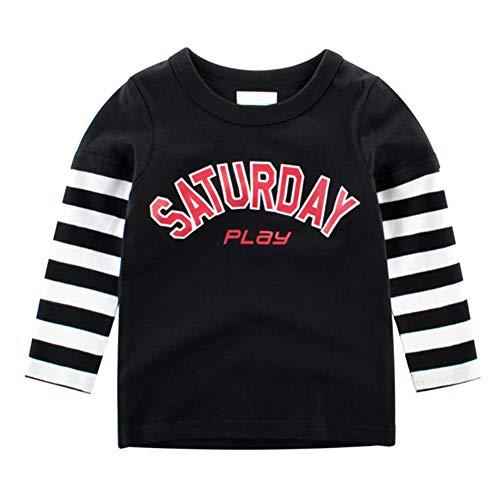 Baywell Baywell Kinder Baby Jungen Mädchen T-Shirt Langarm Brief Drucken Langarmshirt Baumwolle Tops Kleinkind Kleidung Lässige Bekleidungs