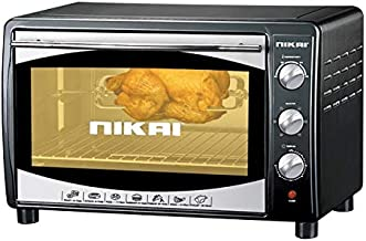 Nikai 45 Liters Electric Oven, Gray - NT655N1, 1 Year Warranty