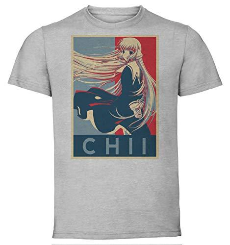 Instabuy T-Shirt Unisex - Grey Shirt - Propaganda - Chobits - Chii Größe Medium