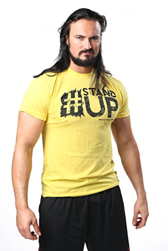 TNA Wrestling–Impact Wrestling Drew Galloway &Quot;Stand Up T-Shirt, Gelb