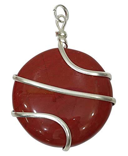 Harmonizentre meditación Colgante Espiral de Piedra cornalina enjaulado Equilibrio de la Piedra Preciosa curativo de Cristal Locket joyería