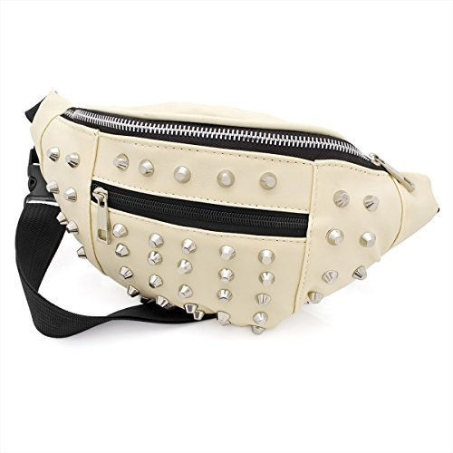 Black Faux Leather Studded Bum Bag / Fanny Pack - Festivals /Club Wear/ Holiday Wear