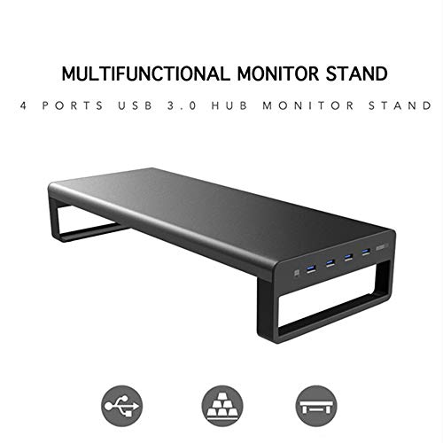 Laptop Desk Stand Aluminium Monitor Stand Computer Riser Ondersteuning Draadloze gegevens overbrengen opladen Office Table Organizer USB 3.0