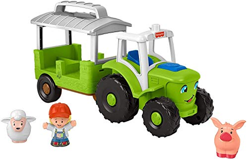 Fisher-Price Little People Caring for Animals Tractor  push-along musical farm truck for toddlers and preschool kids