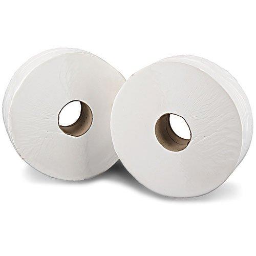 2Work Kf03811 Rotoli di Carta Igienica Jumbo, 2 Veli, Bianco, 200 M, 12 Rotoli