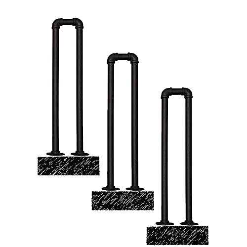 SGYSDSL Pasamanos para escalones al Aire Libre Kit de pasamanos para escalones al Aire Libre Barandilla de Escalera Antideslizante Negra Mate de Hierro Forjado con Kit de instalación-100cm 🔥