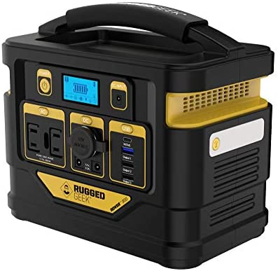 Rugged Geek Rover 300 Portable Power Station 300W Lightweight Solar Generator Power Pack w Dual product image